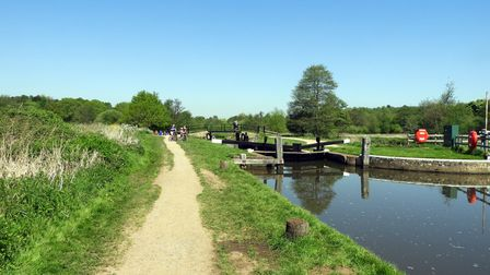 St Catherine's Lock, Godalming, part of the River Wey Navigation