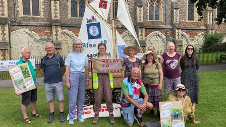 Members of the COP26 Relay at St Albans Cathedral.