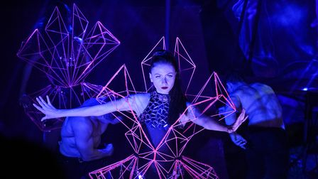 One of the dancers from Circus Cortex performing during their show in Lowestoft. Picture: Danielle B
