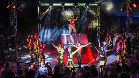 Circus Cortex at the end of their show in Lowestoft. Picture: Danielle Booden