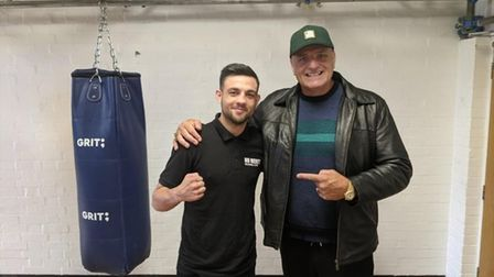 John Fury, father of heavyweight world champion Tyson, visited Tom Ansell at his Elite Fitness Academy gym in Hitchin.