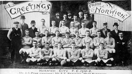 Greetings from Norwich. The Canaries in 1910/11.