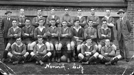 The Norwich City team in 1920/21