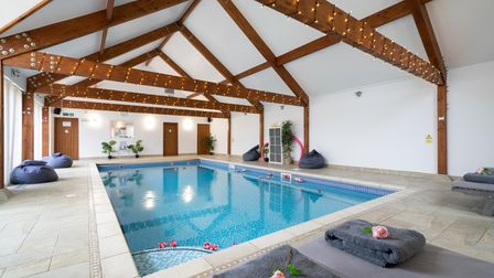 Indoor spa pool at property for sale in Halstead Essex
