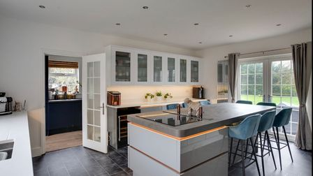 Family kitchen with island Oak House property for sale in Halstead Essex