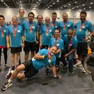 A team of BHRUT doctors after completing the London Triathlon for charity