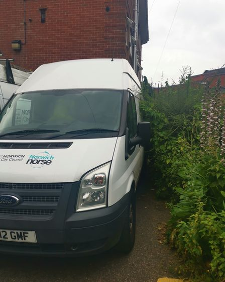 Two Norse city council vans caused disruption to those living at Brooke Place near John Lewis
