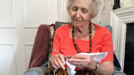 Harpenden care home resident Judith Higgins has been knitting gifts for Emily's Star.