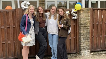 """Students at Bassingbourn Village College celebrated an """"excellent"""" set of GCSE results"""