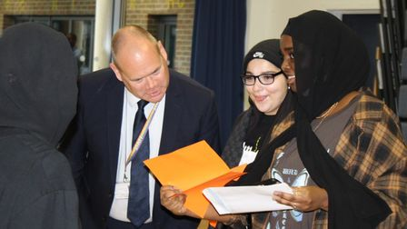 Students show off top GCSE results at Harris Academy St John's Wood