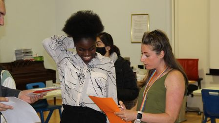 Students at Harris Academy St John's Wood consider their next steps after positive GCSE results