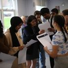 Caterham High School students celebrate on GCSE results day