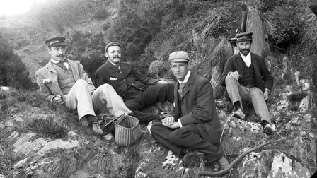 Richard Hansford Worth, right, having a picnic with friends (PR31346)