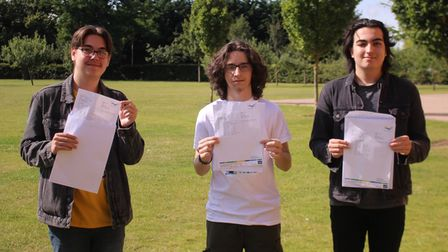 Thomas Clarkson Academy students on GCSE results day 2021