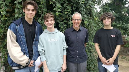 Head Robert Lobatto with students, left to right:Bogues, Bertie, Robert and George