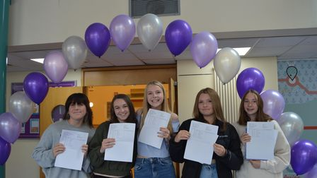 Broadoak Academy students picking up their GCSE results.