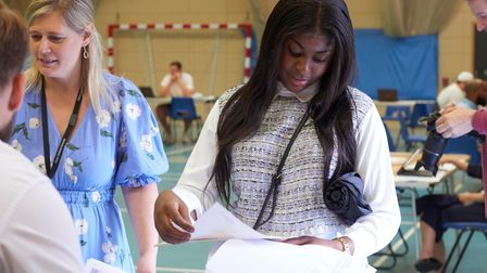 City of London Academy Islington:Claude-Lesly Massu takes her results at the academy.