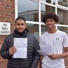 St bons students with their results