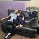 Niall (left) and his son Gary are facing sleeping rough come August 20