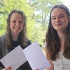 Pupils at Wisbech Grammar School with their GCSE results