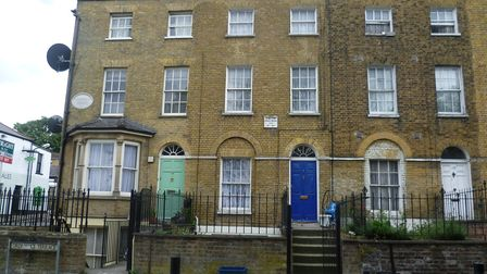 Number 2 Ordnance Terrace in Chatham was the home of Charles Dickens from 1817 to 1822.