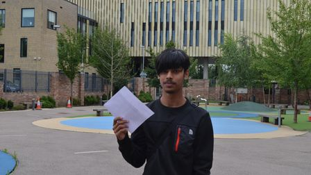 Mohammed Hussain said he couldn't wait to tell his dad about his results.