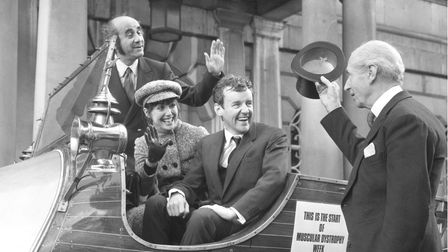 File photo from 1970 of Richard Briers and Una Stubbs sitting in the famous car from Chitty Chitty Bang Bang