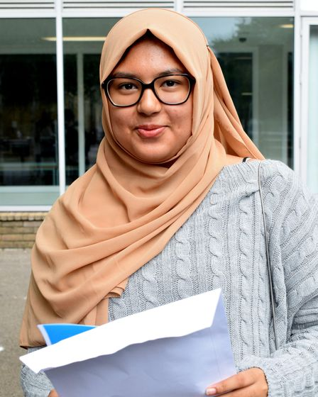 Nishal Tabassum was pleased with some cracking GCSE results