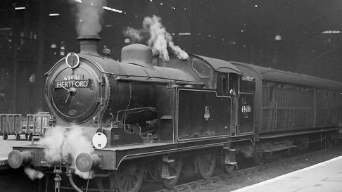 Steam train to Hertford possibly 1930s