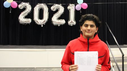 Zaki Sheikh is staying on a sixth form after getting 'a clutch of 8 and 9s' in his GCSEs