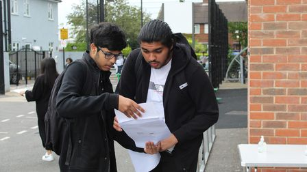 pupils find out their grades