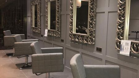 Inside Camille Hairdressers in Brentwood.