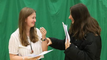 UCL Academy pupils could barely contain the emotion on a successful GCSE results day