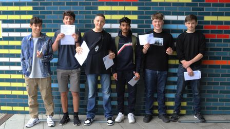 These UCL Academy pupils were delighted with top GCSEs