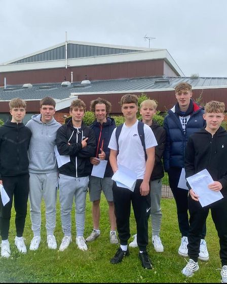 Verulam students celebrate their GCSE results.