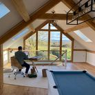 Oak-framed home office extension in Kempsey crafted by Mitre Oak Ltd