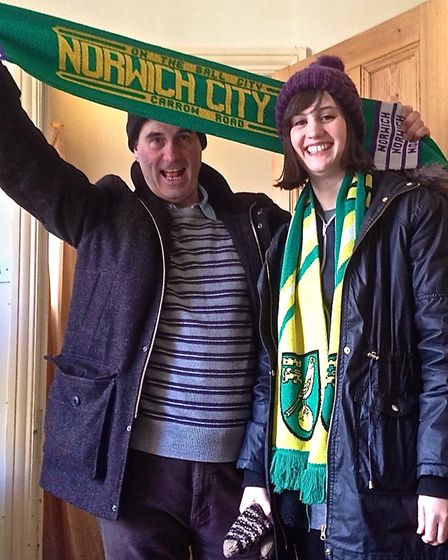 Rex Barker, pictured with his daughter Georgia,has been a season ticket holder at Carrow Road for 10 years