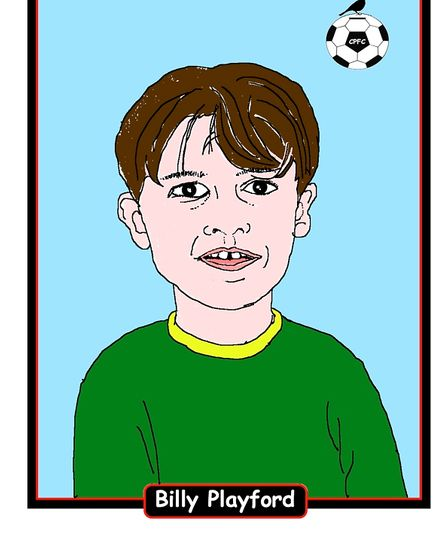 Billy Playford, the main character of Rex Barker's book On The Ball Billy