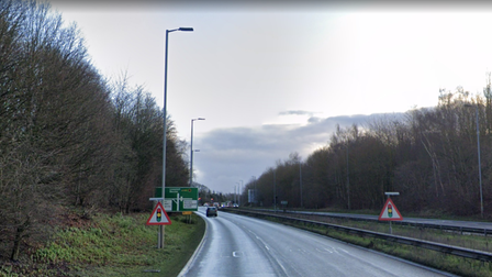An accident took place at the A146/A47 junction at Trowse Newton on Friday morning