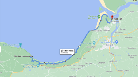 An opportunity to walk from Clovelly to Appledore on the South West Coastal Path and support the RNLI