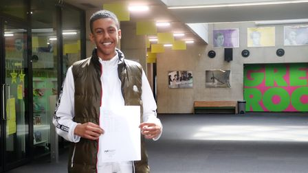Westminster Academy'sFadi Mohamed who scored six9s and four 8s and harbours hopes of studying medicine