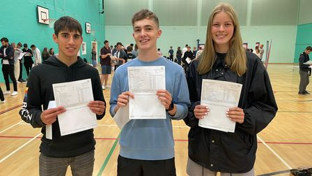 Sandringham students celebrate their results.
