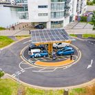 The area'sfirst electric vehicle rapid charging hub has opened in Portishead.