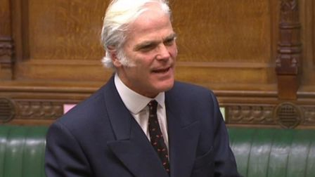 Sir Desmond Swayne in the House of Commons. Photograph: Parliament TV.