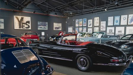 The classic cars showroom at The Engine Rooms in East Finchley