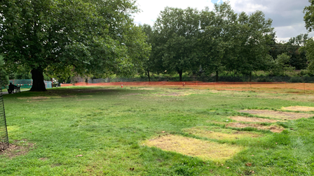 A group protesting coronavirus legislation has been removed from Hackney Downs Park.