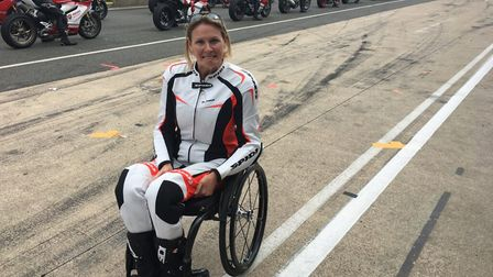 Committed fundraiser Claire Lomas is set to train for her latest challenges at Snetterton Circuit