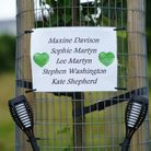 Tributes left in the Keyham area of Plymouth where six people, including the offender, died in a firearms incident