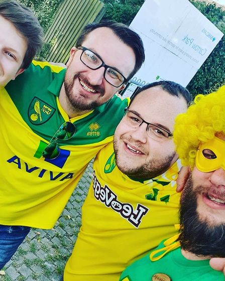 Jay Sadler and friends were hit with parking notices following Norwich City's game with Liverpool
