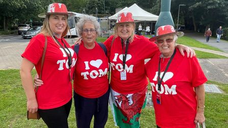 From left, Leanne Jones, Carole Norman, Debbie Jones and Cynthia Harriscame from Barry Island in